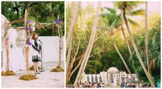 Elegant outdoor chuppah // Found on Modern Jewish Wedding Blog // Photographer: LindseyK Photography