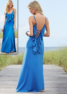 Another potential dress for my bridesmaids. Love the color, ruffles, and back!