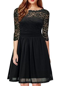 999c7e261a2 New DILANNI DILANNI Women s Vintage Formal Floral Lace 3 4 Sleeve Cocktail  Party Tube Dress online shopping
