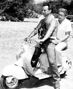 Elia Kazan e James Dean de Lambretta LD primaserie