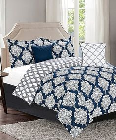 Another great find on #zulily! Laurence Five-Piece Reversible Comforter Set #zulilyfinds