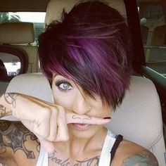 My goal for growing out my pixie! Idk that I really want it much longer than this!