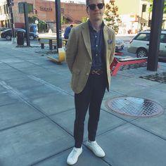 viewfromtheveranda:    #style #fashion #menswear #mensfashion #menstyle #mensstyle #dapper #ootd #outfit #dailylook #wiwt #waywt #picoftheday #sneakers #commonprojects #chino #linen #sportcoat #gantrugger #denim #spreadcollar #popover #propercloth #clubmaster #rayban #pocketsquare #libertyoflondon #sidmashburn
