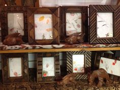 Hand-carved frames available at Tribal Mountain