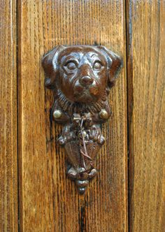 a dog on the door | Flickr - Photo Sharing!
