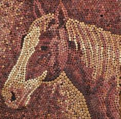 Recycled Wine Cork art by Allison Baer