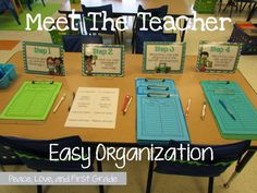Easy organization for Meet the Teacher