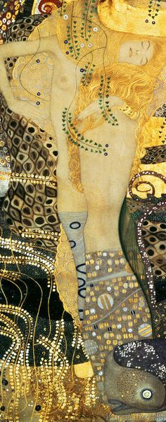 Gustav Klimt - Wasserschlangen I, 1904-07 love his work discovered him in school in art class, admired his work ever since.