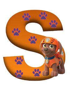 S paw patrol Zuma Paw Patrol, Paw Patrol Party, Paw Patrol Birthday, Dog Themed Parties, 2nd Birthday Parties, 4th Birthday, Cumple Paw Patrol, Baby Month Stickers, Cute Alphabet