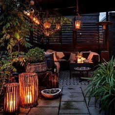 Ideas For Bohemian Patio Diy Decks Diy Pergola, Diy Patio, Backyard Patio, Backyard Landscaping, Patio Ideas, Pergola Kits, Garden Ideas, Backyard Ideas, Diy Garden