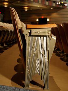 Art Deco theatre seating.