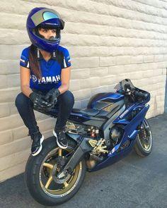 Yamaha R6 girl.
