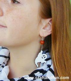 #Halloween #earrings  #recycled plastic bottle  - #Tutorial