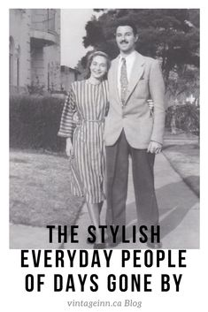 "Blog Post: The Stylish ""Regular"" Folks of Days Gone By. Vintage Photos, Check it out today! #vintagefashion #vintagephotos #1940s #1950s  #vintageimages #vintage"