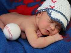 Crochet Baby Baseball Hat. $20.00, via Etsy.