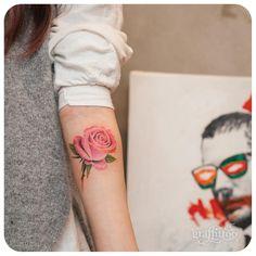 rose :-) - #타투 #그라피투 #타투이스트리버 #디자인 #그림 #디자인 #아트 #일러스트 #tattoo #graffittoo #tattooistRiver #design #painting #drawing #art #Korea #KoreaTattoo #rose #rosetattoo #장미 #장미타투