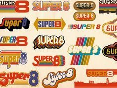 Retro This selection of logos shows the range of feeling vintage logos can evoke, even when restricted to a certain decade. - Working on a bunch of logo types for a style raglan/ringer tee. 70s Logos, Retro Logos, Retro Font, Design Retro, Design Logo, Web Design, Vintage Graphic Design, Design Art, Branding Design