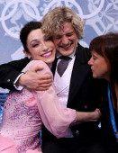 Meryl Davis Charlie White short dance Sochi 2014 kiss and cry