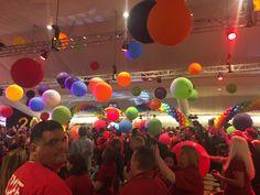 100 Balloon drop using 3ft balloons