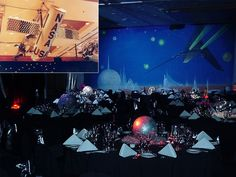 space themed tables