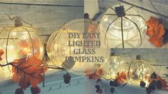 Hey everyone! I made some more easy budget friendly lighted glass pumpkins! Everything is from Dollar Tree items! I got the inspiration to do this from Lauri. Dollar Tree Pumpkins, Dollar Tree Fall, Dollar Tree Decor, Glass Pumpkins, Dollar Tree Crafts, Autumn Crafts, Holiday Crafts, Thanksgiving Crafts, Thanksgiving Decorations