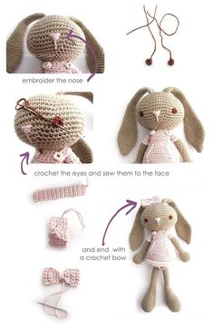 Mesmerizing Crochet an Amigurumi Rabbit Ideas. Lovely Crochet an Amigurumi Rabbit Ideas. Crochet Diy, Crochet Amigurumi Free Patterns, Crochet Crafts, Crochet Dolls, Crochet Projects, Crochet Doll Tutorial, Crochet Ideas, Crochet Mignon, Confection Au Crochet