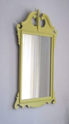 Yellow Vintage Mirror - SOLD