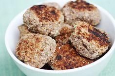 Mushroom, Lentil and Quinoa Croquettes #Rawfood #Vegan