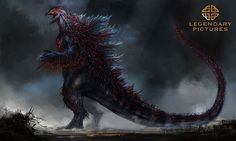 Godzilla concept art courtesy of Legendary Pictures