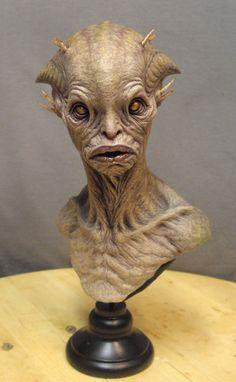 Alien bust. by BOULARIS.deviantart.com on @deviantART
