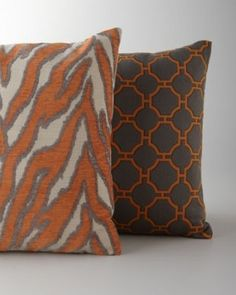 orange and grey animal print linen fabric - Google Search