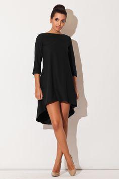 Katrus K141 Sukienka - czarny