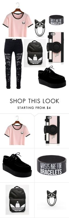 """""""Back To School"""" by skyeham ❤ liked on Polyvore featuring Kate Spade and adidas"""