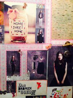 Collage op de deur!