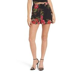 Women's Leith Floral Print High Waist Shorts ($55) ❤ liked on Polyvore featuring shorts, black botanical floral, highwaist shorts, floral print high waisted shorts 2017, high-waisted shorts, high-rise shorts and flower print shortshigh waisted shorts 2017 2018 High Rise Shorts, High Waisted Shorts, Floral Shorts, Boho Shorts, Ross Store, Holiday Outfits, Floral Prints, Cute Outfits, Mini Skirts