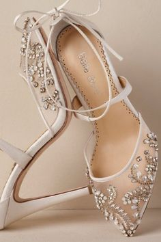 Courtesy of BHLDN; Wedding shoes idea. #weddingshoes