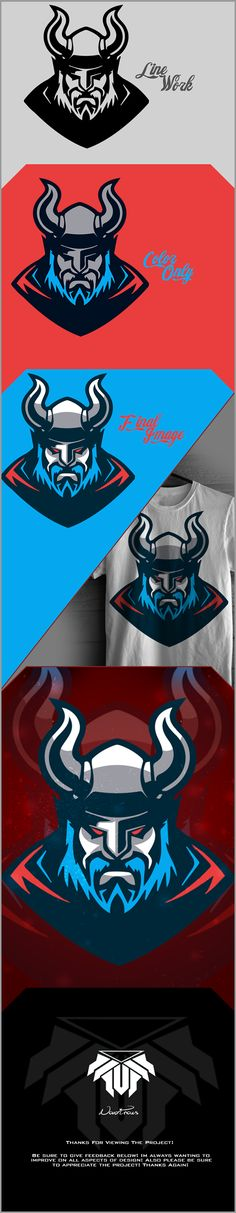 Viking Mascot Project on Behance