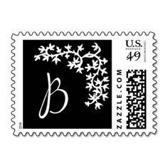 B Monogram (Black Ivy Corner) Postage Stamps