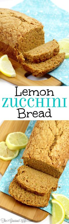Lemon Zucchini Bread Recipe - a classic zucchini bread recipe with an extra kick of lemon. Delicious and refreshing! My kids absolutely love this recipe! And it's an awesome breakfast idea too! Classic Zucchini Bread Recipe, Lemon Zucchini Bread, Best Bread Recipe, Zucchini Bread Recipes, Paleo Bread, Zucchini Cake, Bread Baking, Bento, Delicious Desserts