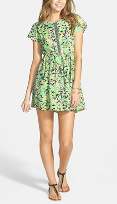 Seeing green! Need this dress for summer.