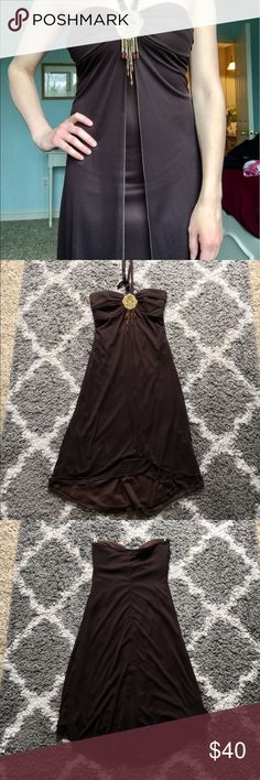 Trixxi Halter Dress Trixxi brown halter dress, very flowy and perfect for homecoming. Only worn once, great condition. Trixxi Dresses