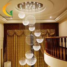 651.10$  Buy now - http://alihs6.worldwells.pw/go.php?t=32656006481 - LED modern staircase chandelier crystal lamp stair lamp chandelier hanging lamp hall long Hotel Villa Crystal lamp
