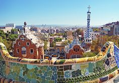 Parque Guell in Barcelona, Spain - designed by architect Antoni Gaudi Barcelona Park Guell, Gaudi Barcelona, Barcelona City, Barcelona Guide, Barcelona Travel, Barcelona Vacation, Barcelona Catalonia, Barcelona Website, Cruises