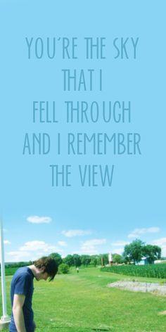Whenever I'm holding you. I love the lyrics!