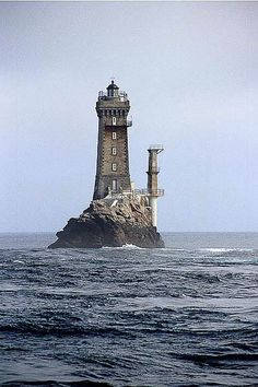 "Phare de La Vieille (""The Old Lady"")	guiding mariners in the strait Raz de Sein Finistère	Brittany 	France"