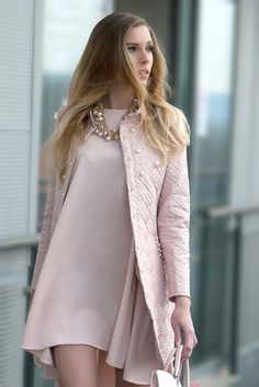 Look Graceful With Pastel Pink Coat Ideas) Look Fashion, Spring Fashion, Winter Fashion, Womens Fashion, Fashion Trends, Feminine Fashion, Ladies Fashion, Fashion Ideas, Fashion Outfits