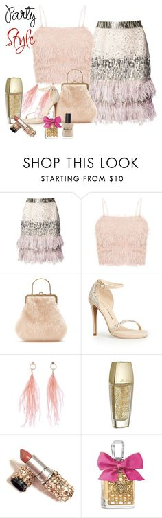 """""""Party style"""" by viv-h ❤ liked on Polyvore featuring Matthew Williamson, Shrimps, Chinese Laundry, Ana Accessories, Guerlain, Juicy Couture and Lauren B. Beauty"""