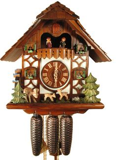 Cuckoo Kingdom, Inc - Chalet Cuckoo Clock - Jumping Deer | Water Wheel | Dancers | 8386,  (http://www.cuckookingdom.com/chalet-cuckoo-clock-jumping-deer-water-wheel-dancers-8386/)