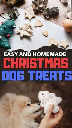 Tis the season for the tastiest Christmas dog treats around! Not only are they delicious and homemade, but they are also sourced from the most easily available ingredients in your house like peanut butter, pumpkin, sweet potato, chicken and carob for that chocolaty taste! So go wild baking (or not) these super easy to make dog treats! Christmas Dog, Homemade Christmas, Christmas Themes, Frozen Dog, Unsweetened Applesauce, Yogurt Recipes, Peanut Butter Recipes, Homemade Dog Treats, Dog Treat Recipes