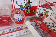 Old school Hello Kitty!  This looks like the stuff we'd see at the Hello Kitty store at the mall when I was tiny...